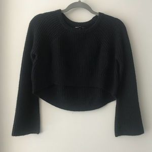 Maje Navy Blue Crop Sweater Size 1